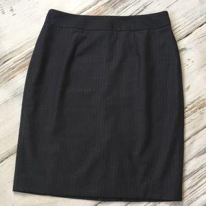 Calvin Klein Pencil Skirt Gray Pinstripes Straight